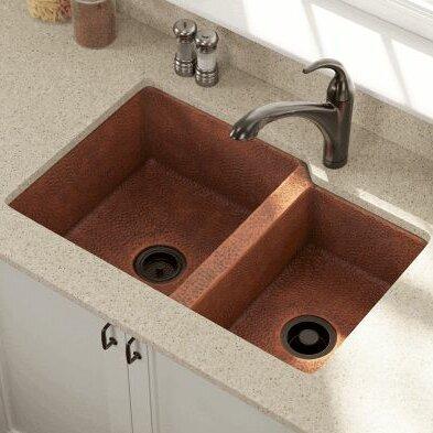 Polaris Sinks 33 L X 22 W Offset Double Bowl Undermount Kitchen