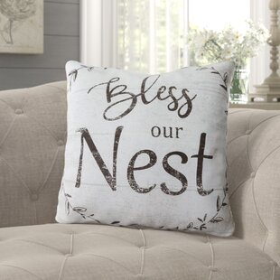 Surprising Rabia Bless Our Nest Indoor Outdoor Cotton Throw Pillow Ncnpc Chair Design For Home Ncnpcorg