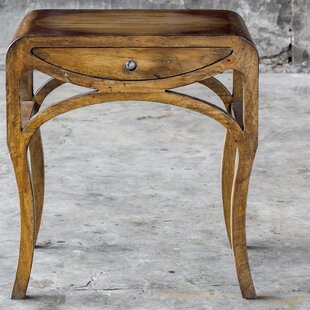 Hunt Pecan End Table with Storage