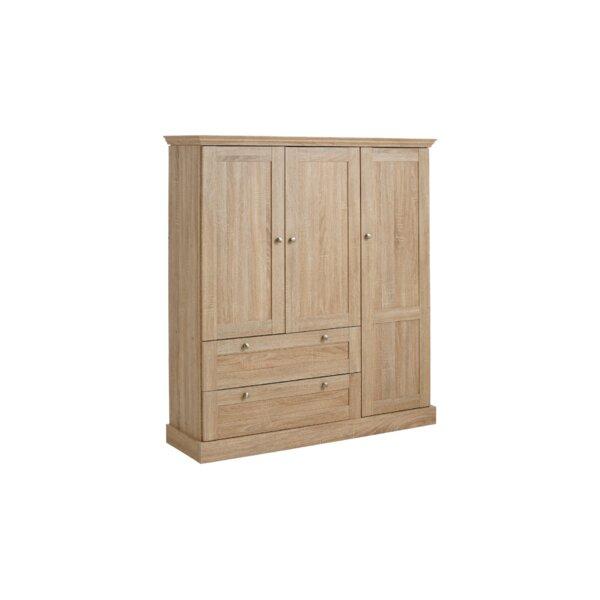 Hokku Designs Bruce 3 Door Wardrobe Amp Reviews Wayfair Co Uk