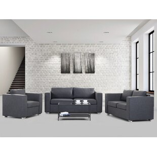 Top Lieida 3 Piece Living Room Set by Home Loft Concepts Reviews (2019) & Buyer's Guide
