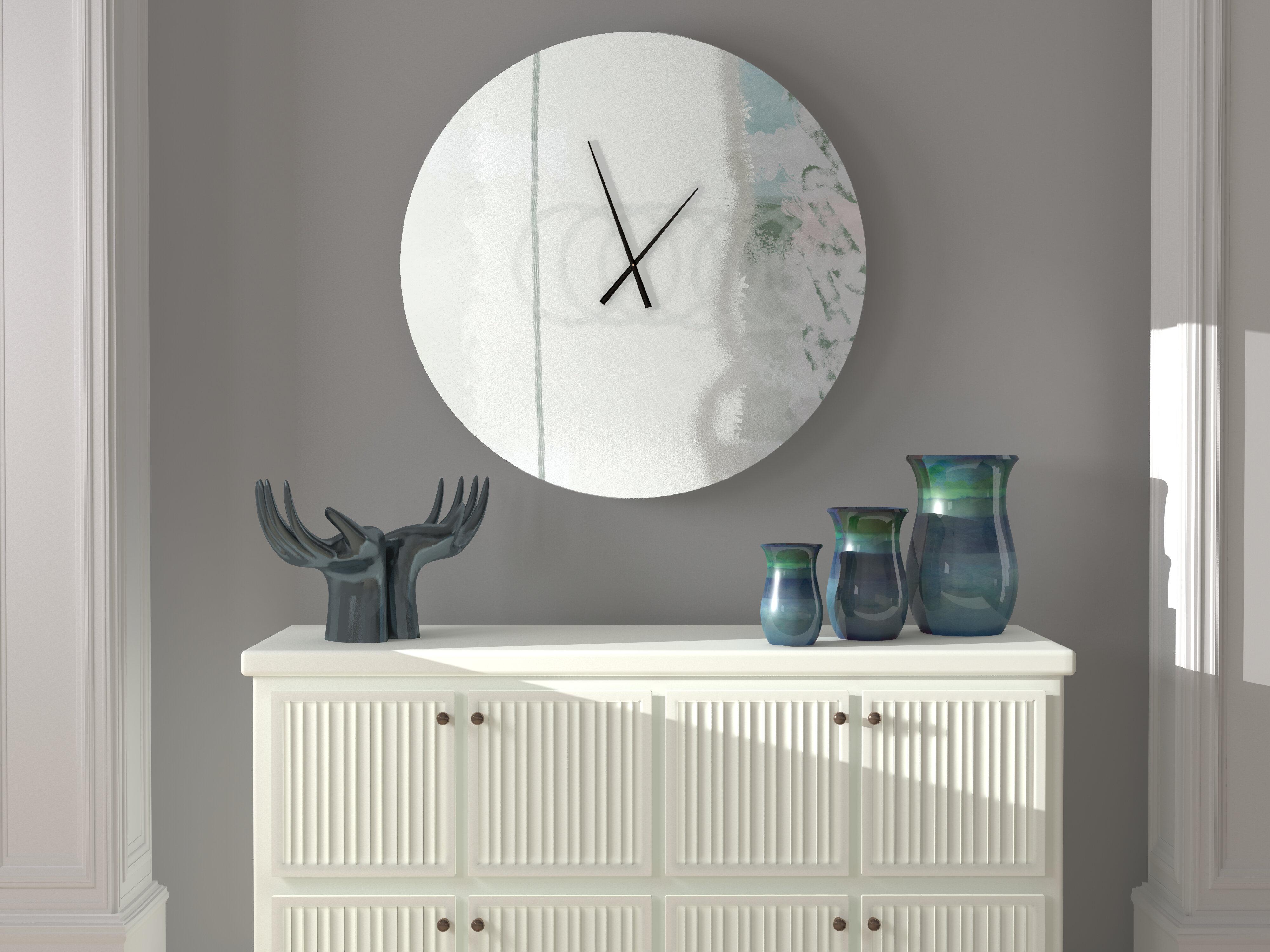 Ebern Designs Sanctioned Arresting Abstract Metal Wall Clock Wayfair