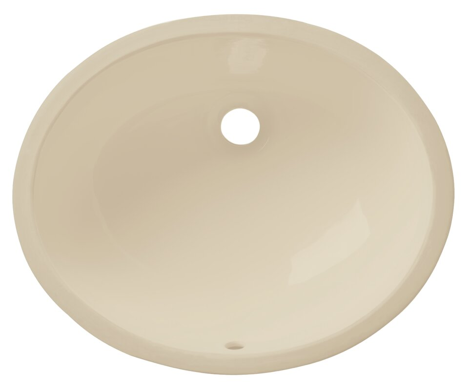 Allora USA Vitreous China Oval Undermount Bathroom Sink with Overflow