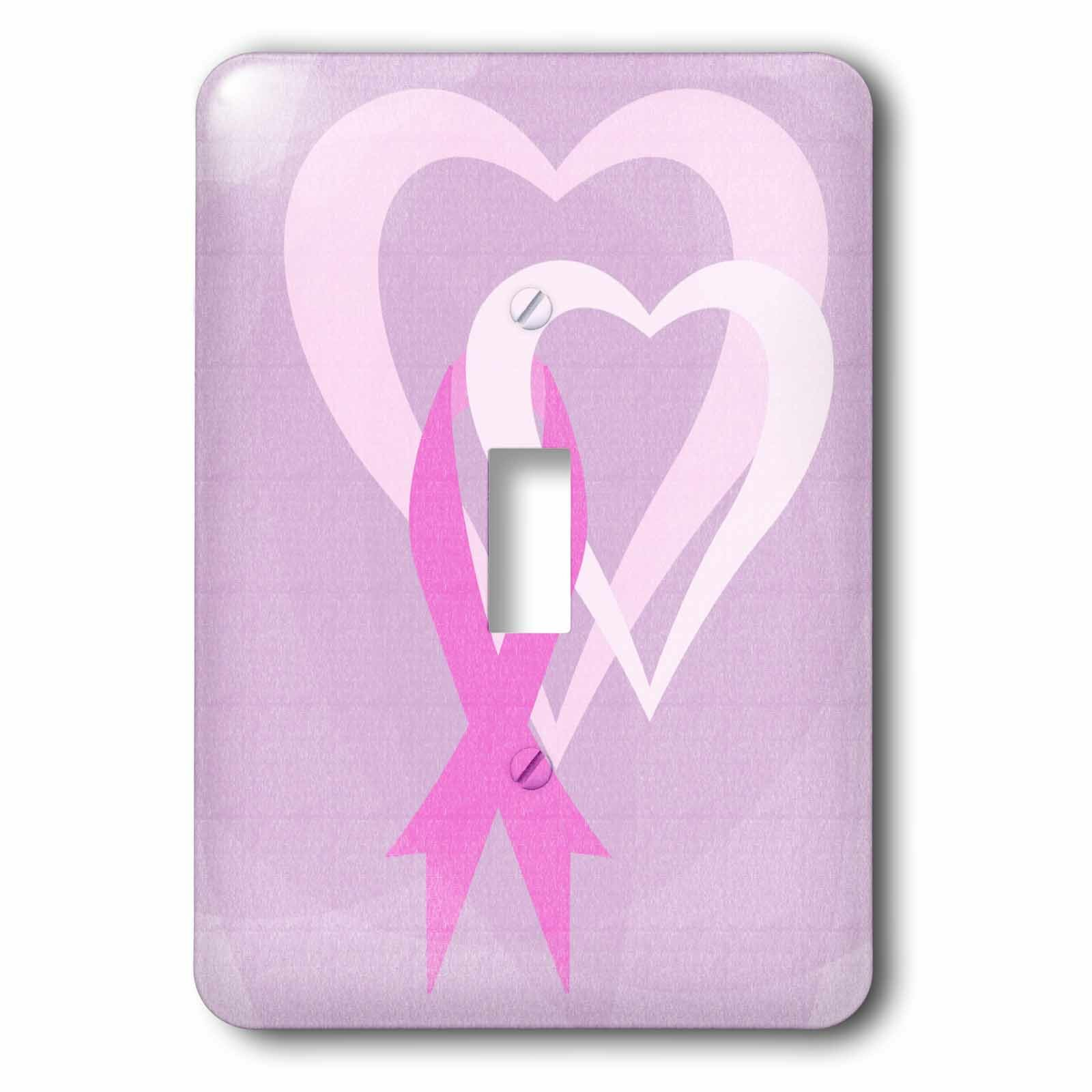 3drose Ribbon Hearts Breast Cancer Awareness 1 Gang Toggle Light Switch Wall Plate Wayfair