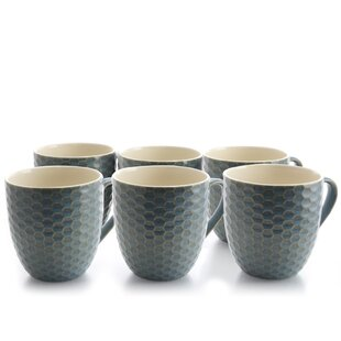 Hartsfield Honeycomb Coffee Mug (Set of 6)
