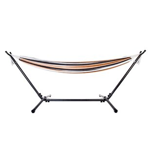 Hathaway Professional Polyester Stripe Tree Hammock with Stand by Highland Dunes