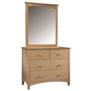 Bonneau 4 Drawer Dresser with Mirror by Harriet Bee