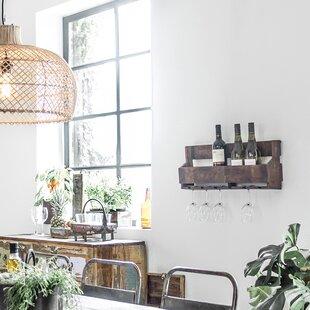 Thynes 6 Bottle Wall Mounted Wine Rack By Alpen Home