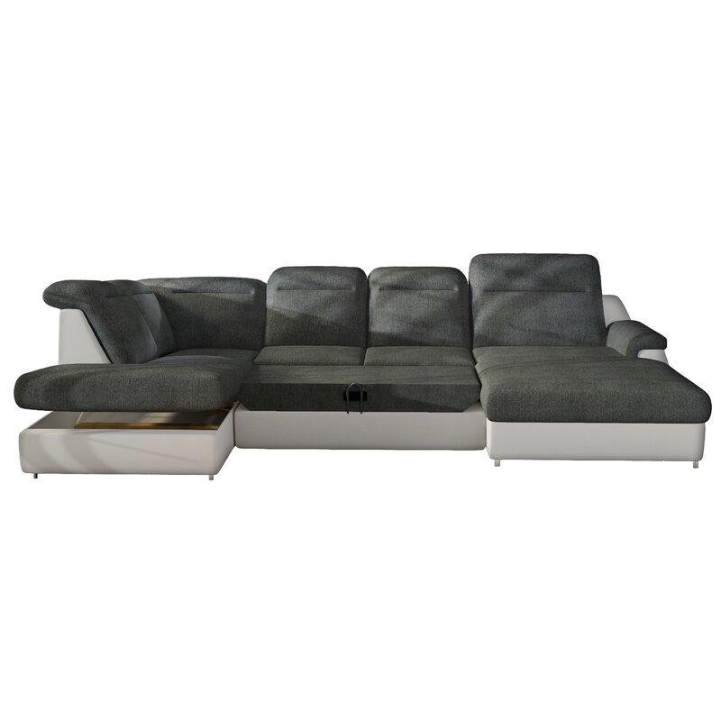 Sensational Imani Left Hand Facing Sleeper Sectional With Ottoman Andrewgaddart Wooden Chair Designs For Living Room Andrewgaddartcom