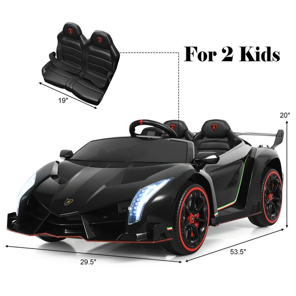 Licensed Lamborghini Kids Ride on Car with RC & Swing Function