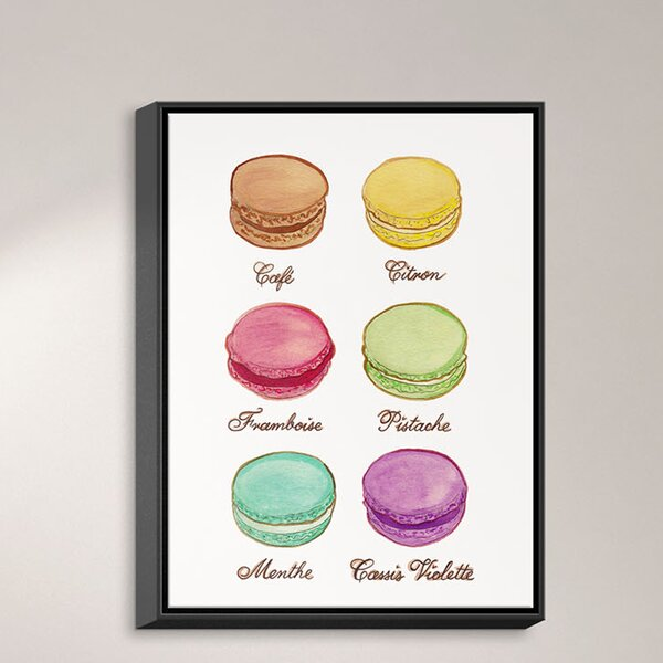 Dianochedesigns Laduree Macaroons I Framed Painting Print On Wrapped Canvas Wayfair Ca