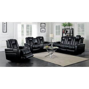 Gardners 3 Piece Faux Leather Reclining Living Room Set by Latitude Run