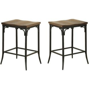 Brasfield 2 Piece Metal Counter Height Bar Stool Set (Set of 2) Williston Forge