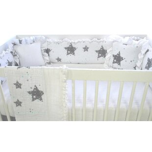 Stars Love You To The Moon Crib Bumper By Blueberrie Kids