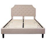 Porath Tufted Upholstered Platform Bed by Charlton Home®