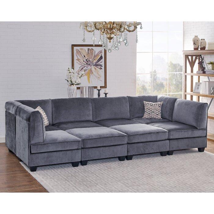 Eula Modular Velvet Sofa Set