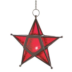 Red Star Candle Lantern