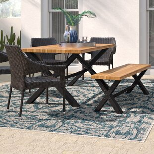 Zachary Outdoor 6 Piece Dining Set
