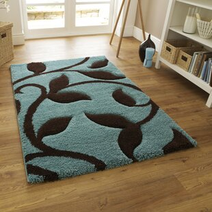 Theresa Carving Blue Area Rug by Charlton Home