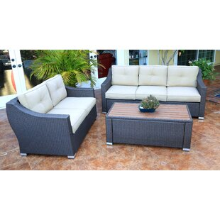 Tampa 3 Piece Sofa Set with Cushions