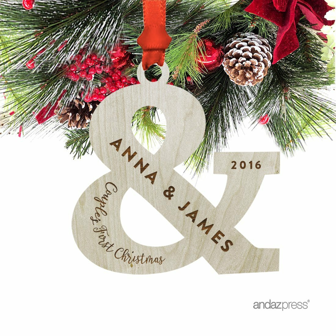 The Holiday Aisle Anna & James Shaped Ornament with Gift Bag | Wayfair