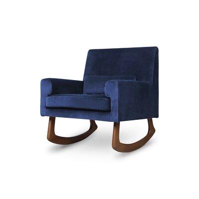 Nursery works Sleepytime Rocking Chair Leg Color: Walnut, Upholstery Color: Navy Velvet
