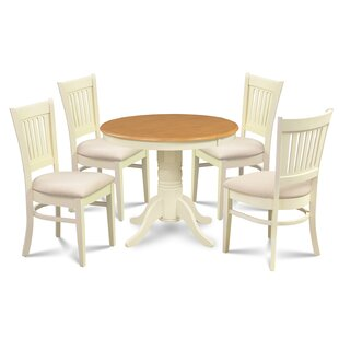 Cedarville Elegant 5 Piece Solid Wood Dining Set