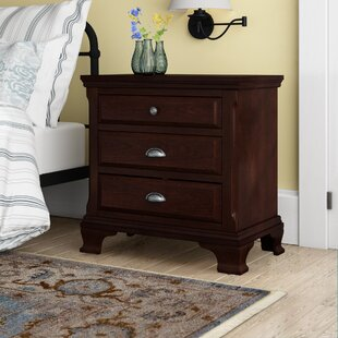 Plattsburgh 3 Drawer Nightstand by Three Posts