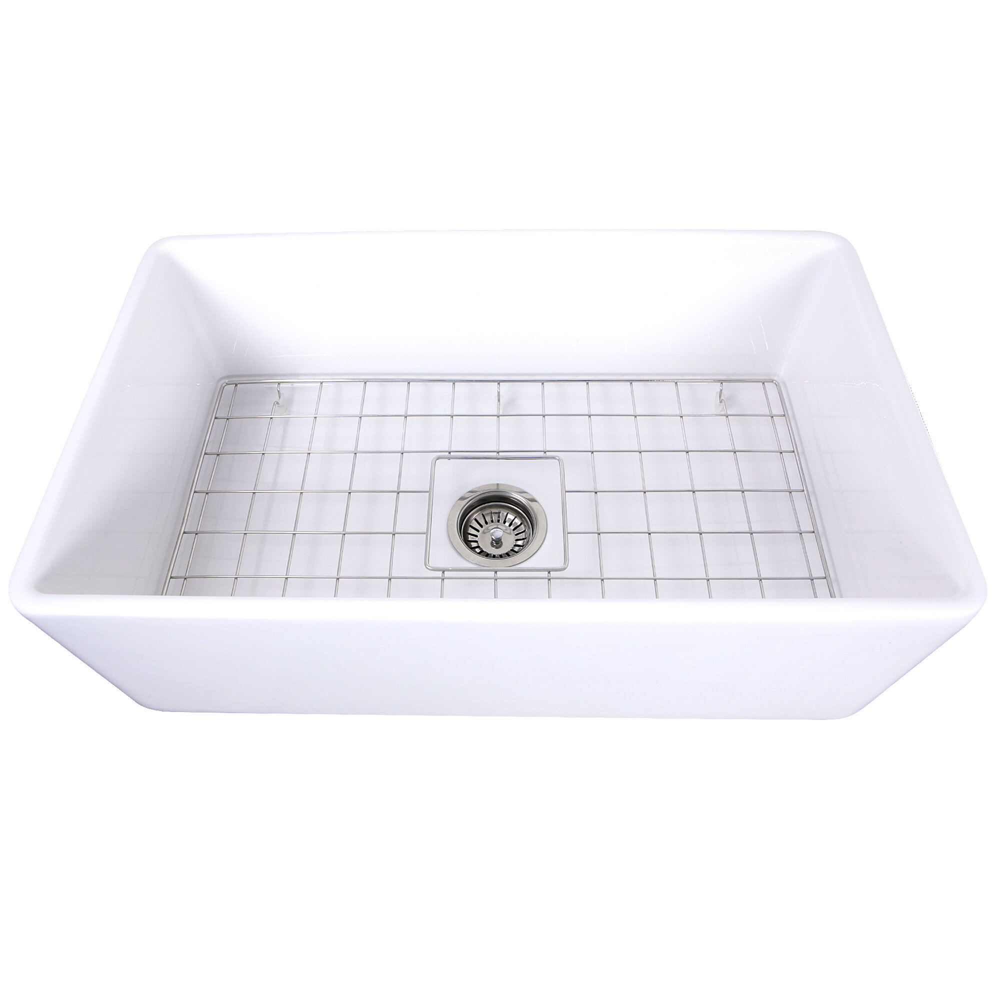 Cape 30 L X 18 W Farmhouse Kitchen Sink With Grid Reviews Joss Main
