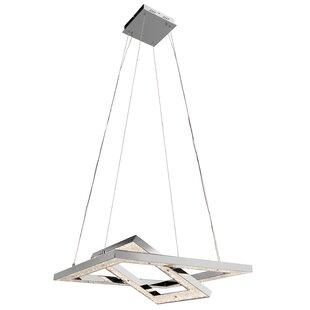 Élan Lighting Crushed Ice 2-Light LED Geometric Chandelier