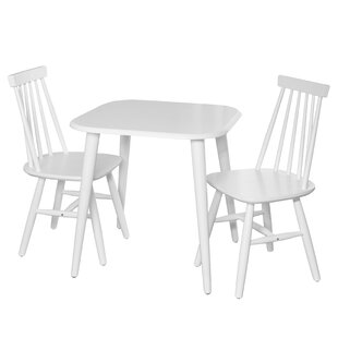 Burnside Kids 3 Piece Square Writing Table and Chair Set