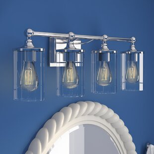 Compare Hague 4-Light Vanity Light with Clear Beveled Glass By Beachcrest Home