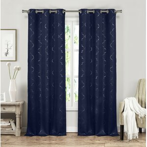 Adelaide Geometric Blackout Grommet Curtain Panels (Set of 2)