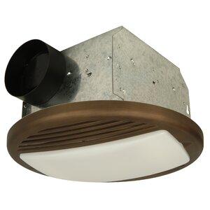 Round Bathroom Ventilation Fan in Bronze