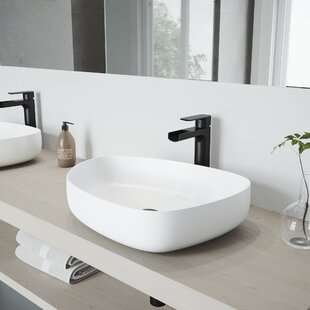 Online Reviews Peony Stone Specialty Vessel Bathroom Sink with Faucet By VIGO