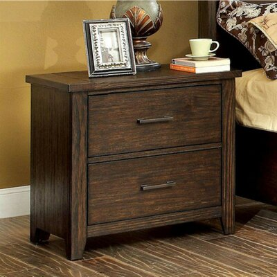 Mickie 2 Drawer Nightstand Loon Peak