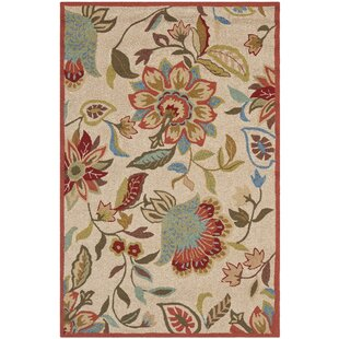 Carvalho Beige/Red/Green Indoor/Outdoor Area Rug by Charlton Home Design