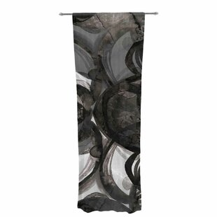 Ebi Emporium The Final Eclipse Painting Decorative Graphic Print Sheer Rod Pocket Curtain Panels Set Of 2