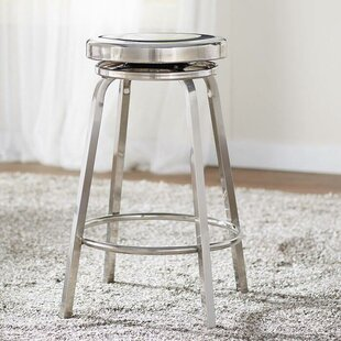 Hawkin Swivel 25 Bar Stool by Williston Forge Cheap