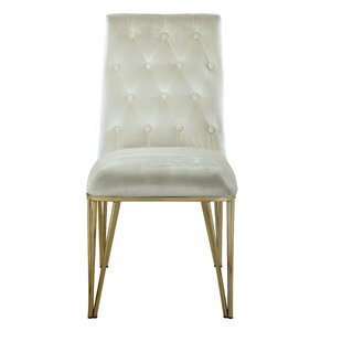 Singleton Upholstered Dining Chair (Set Of 2) by Everly Quinn Comparisont