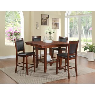 Kaneshiro 5 Piece Counter Height Dining Set by Alcott Hill Coupon