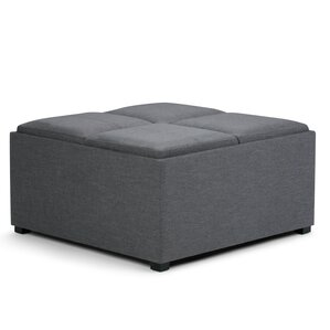 Avalon Coffee Table Storage Ottoman by Simpl..