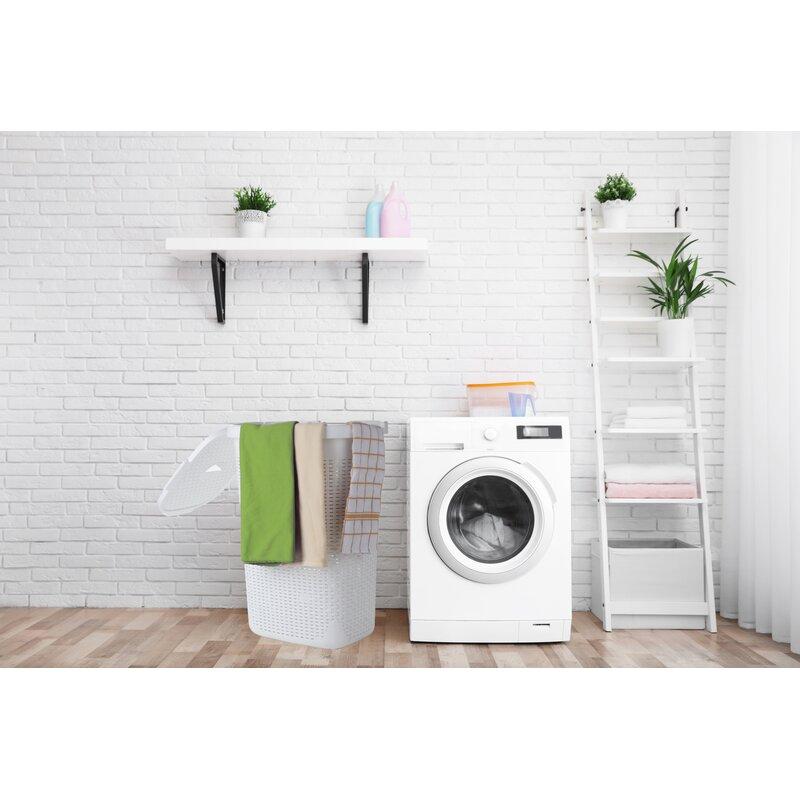 Mind Reader Laundry Basket With Cutout Handles Washing Bin Dirty Clothes Storage Bathroom Bedroom Closet White 50 Litre Hamper Reviews Wayfair Ca