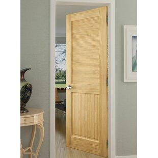 Solid Wood Louvered Pine Slab Interior Door