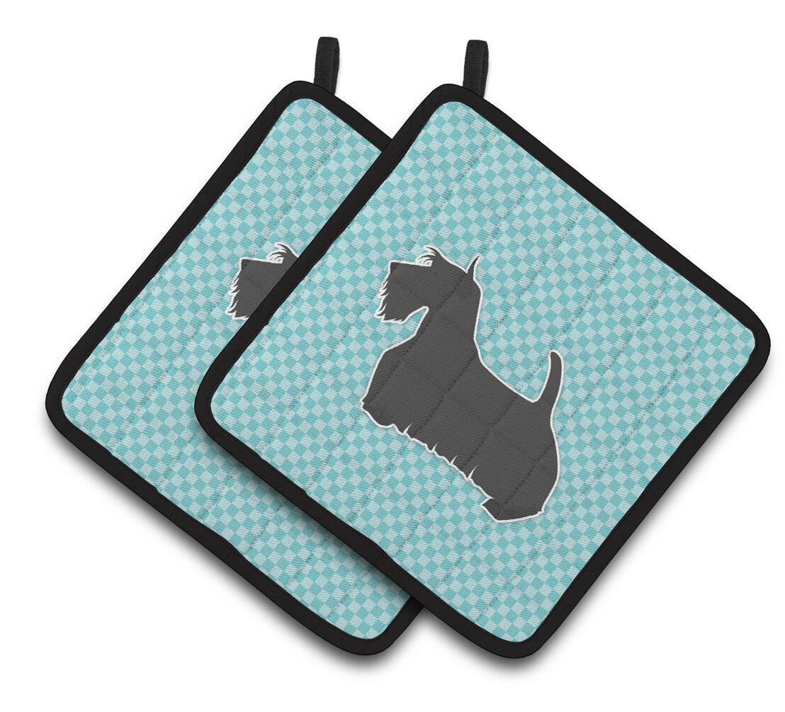 East Urban Home Scottish Terrier Checkerboard Potholder Wayfair
