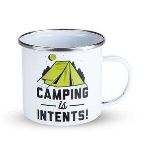 Camping Is Intense Enamel Coffee Mug