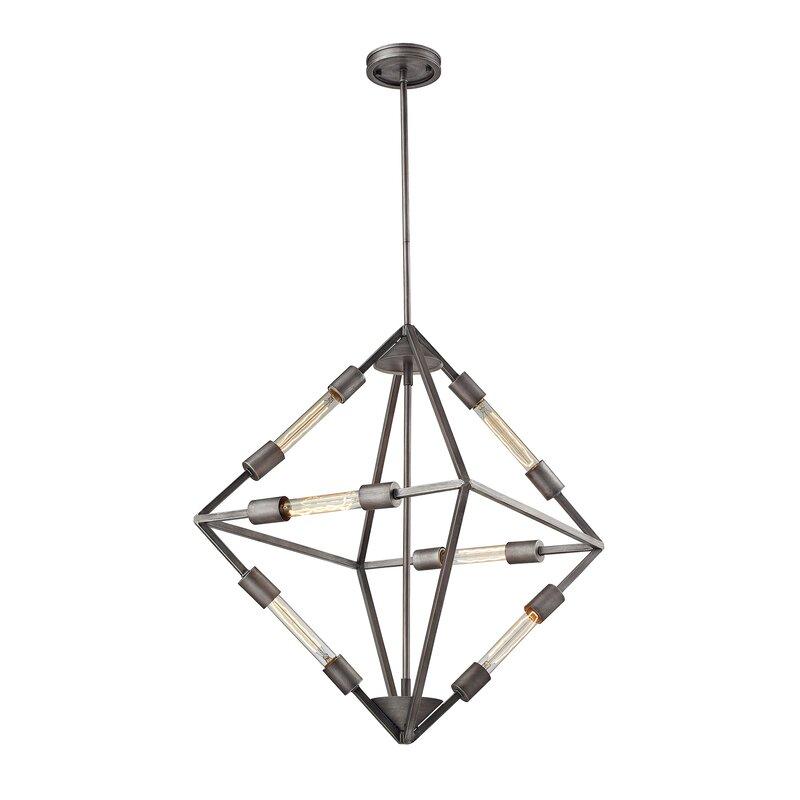 Brayden Studio Dunleavy 6-Light Unique / Statement Geometric Chandelier
