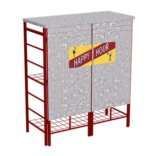 Albee Pop-up Galvanized Home Bar