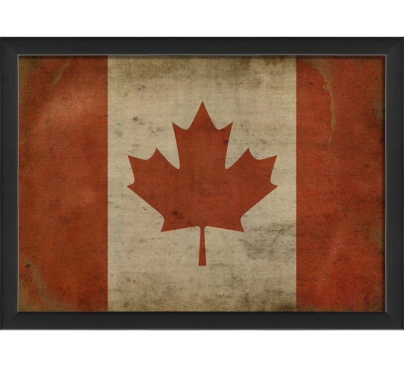 Canadian Flag Iii Framed Graphic Art Print Buy Online In Aruba At Aruba Desertcart Com Productid 131632717