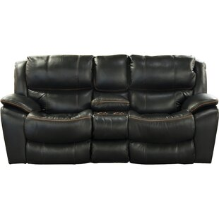 Beckett Leather Reclining Loveseat by Cat..